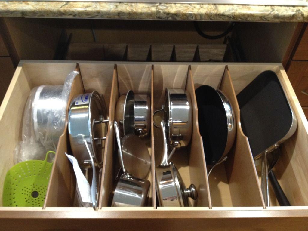 where do you keep you pots pans a2gemini s kitchen on gardenweb pan storage kitchen drawer on kitchen organization pots and pans id=50935