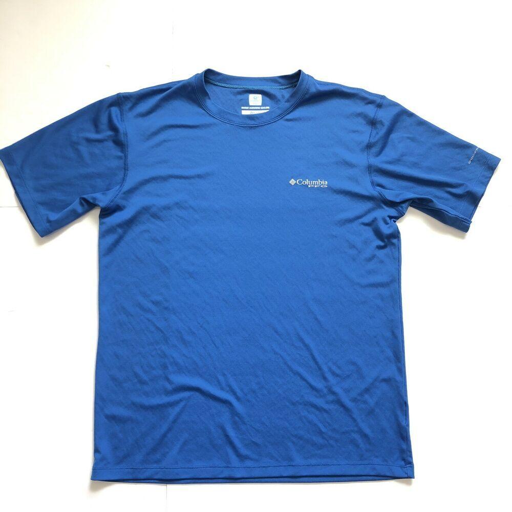 Columbia Omni Freeze Zero Mens T Shirt Small Sweat Activated