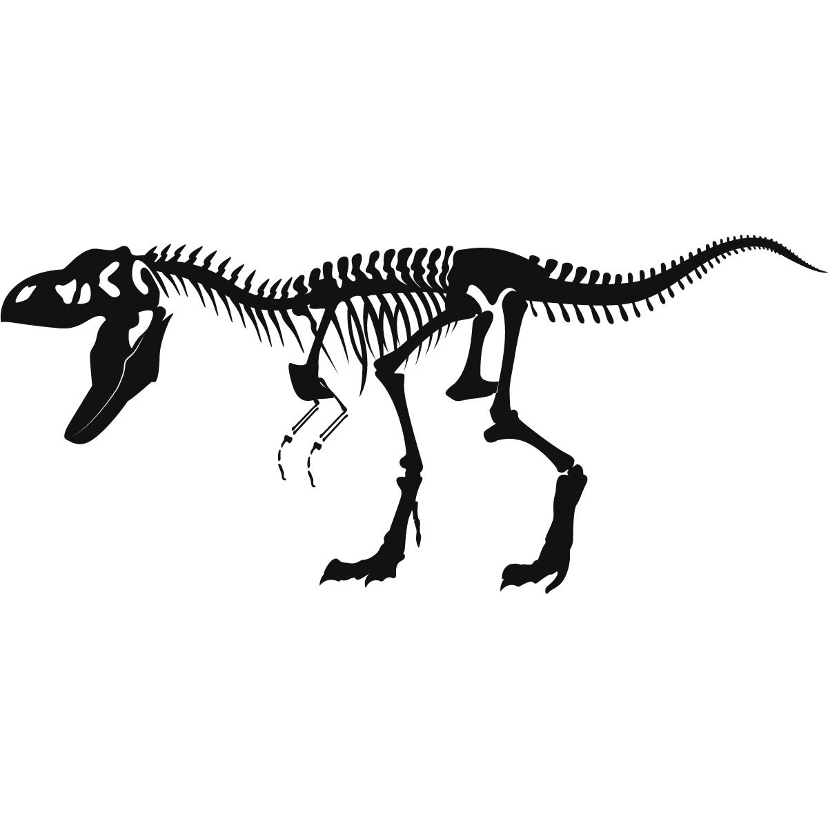 T Rex Skeleton Painting
