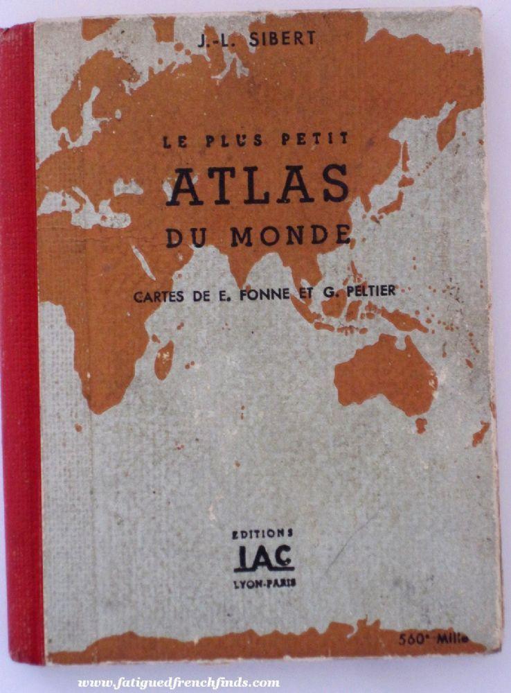 Vintage French Miniature World Atlas Le Plus Petit Atlas du Monde J.L. Sibert 1940: €12 www.fatiguedfrenchfinds.com