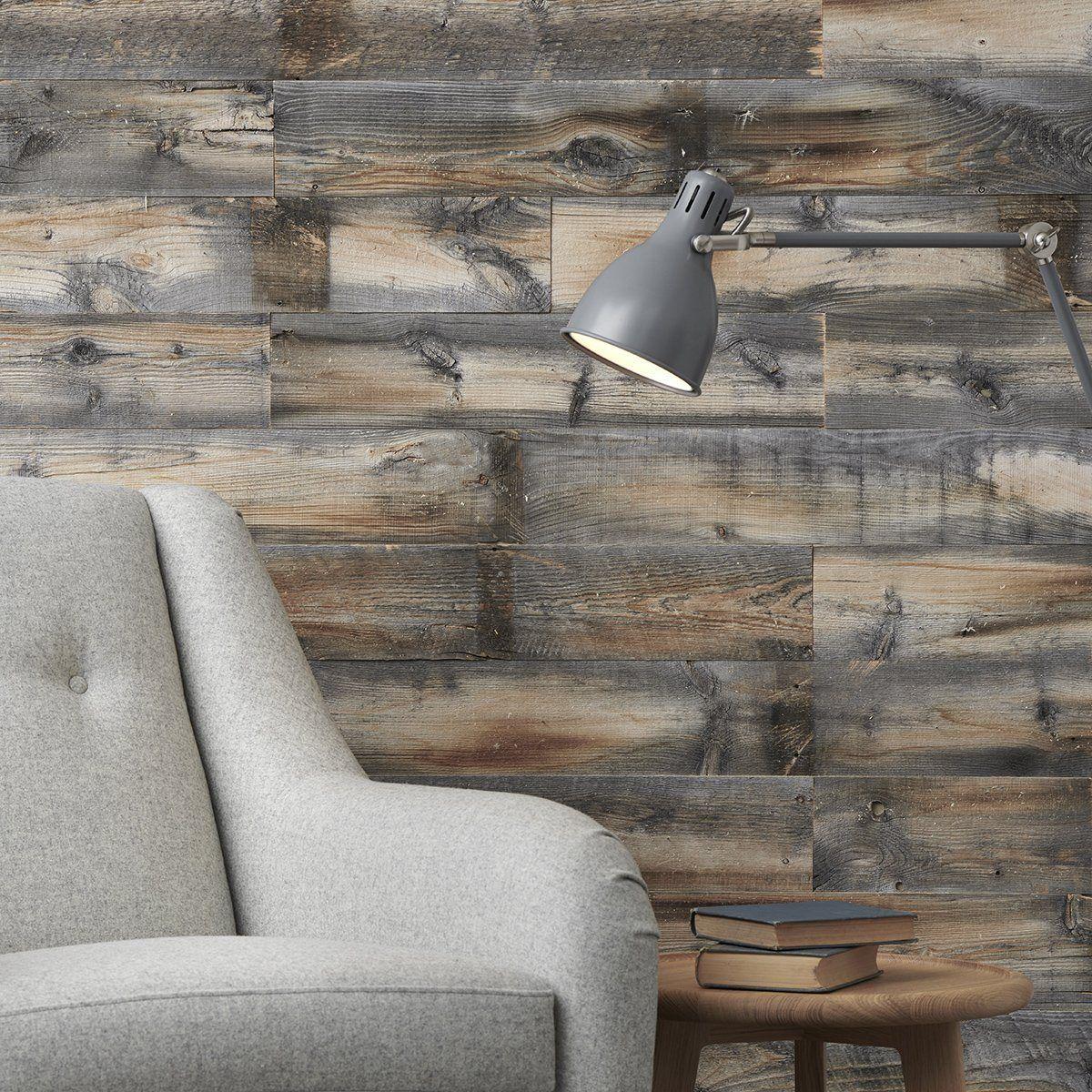 Rustic Grey Wood Wall Panelling Rustic Weathered Reclaimed Wood Wall In 2020 Wood Panel Walls Reclaimed Wood Wall Reclaimed Wood Wall Panels