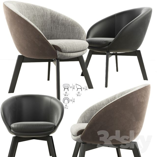 Minotti Russell Little Lounge Chair Lounge Chair Chair Lounge