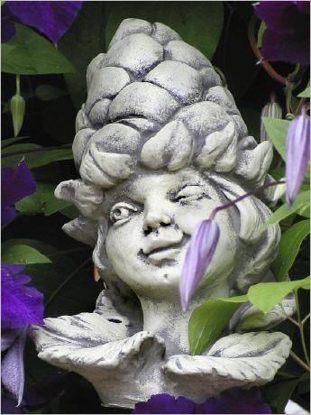 Blumenkind Aus Stein Blutenkopf Blumenkopf Steinguss Blumenkinder Blumen Steine