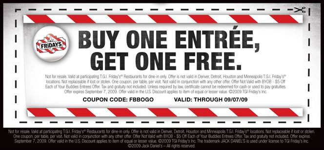 photograph about Tgifridays Printable Coupons named TGI Fridays Discount codes Things toward Get Tgi fridays discount coupons