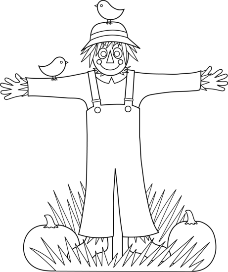 Outline Scarecrow Image Cute Scarecrow Coloring Page Free Clip Art Halloween Coloring Pages Halloween Coloring Free Clip Art