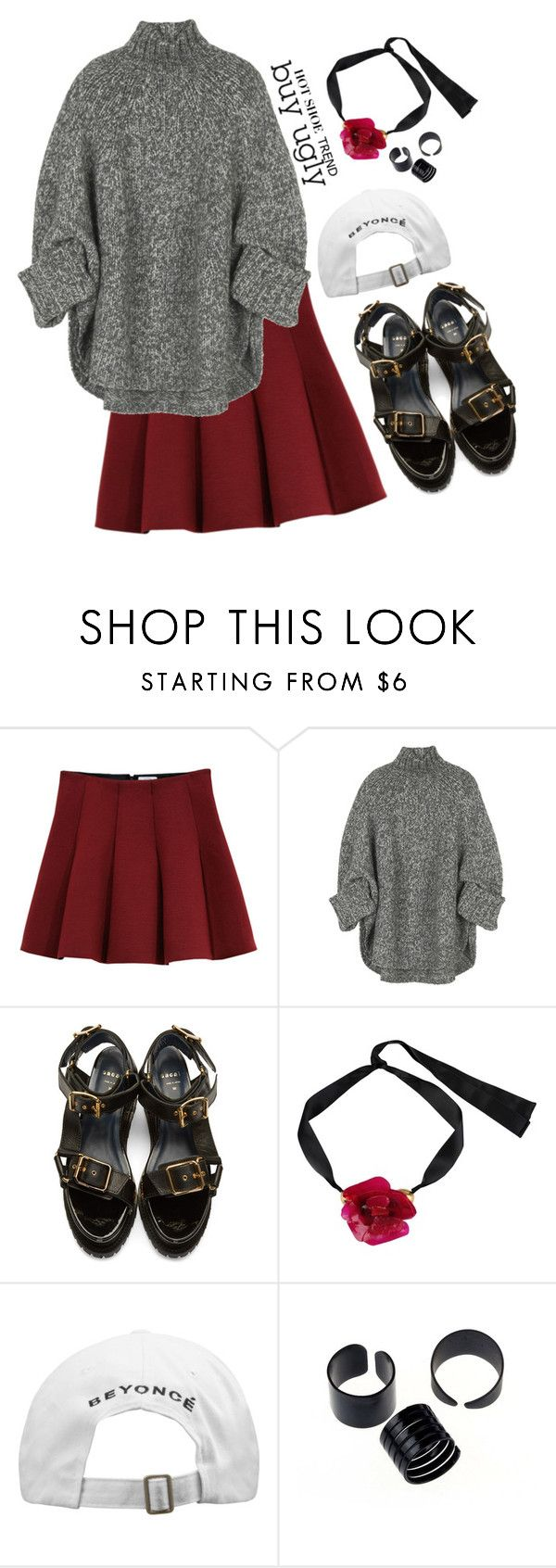"""beauty isn't conditional"" by diamond-ivys ❤ liked on Polyvore featuring Outstanding Ordinary, Michael Kors, Sacai, Marni, contest, contestentry and uglyshoes"