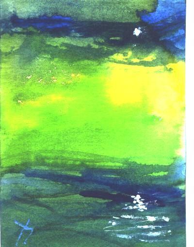ACEO  Star Reflection celestial painting by by jimsmeltzgallery, $20.00