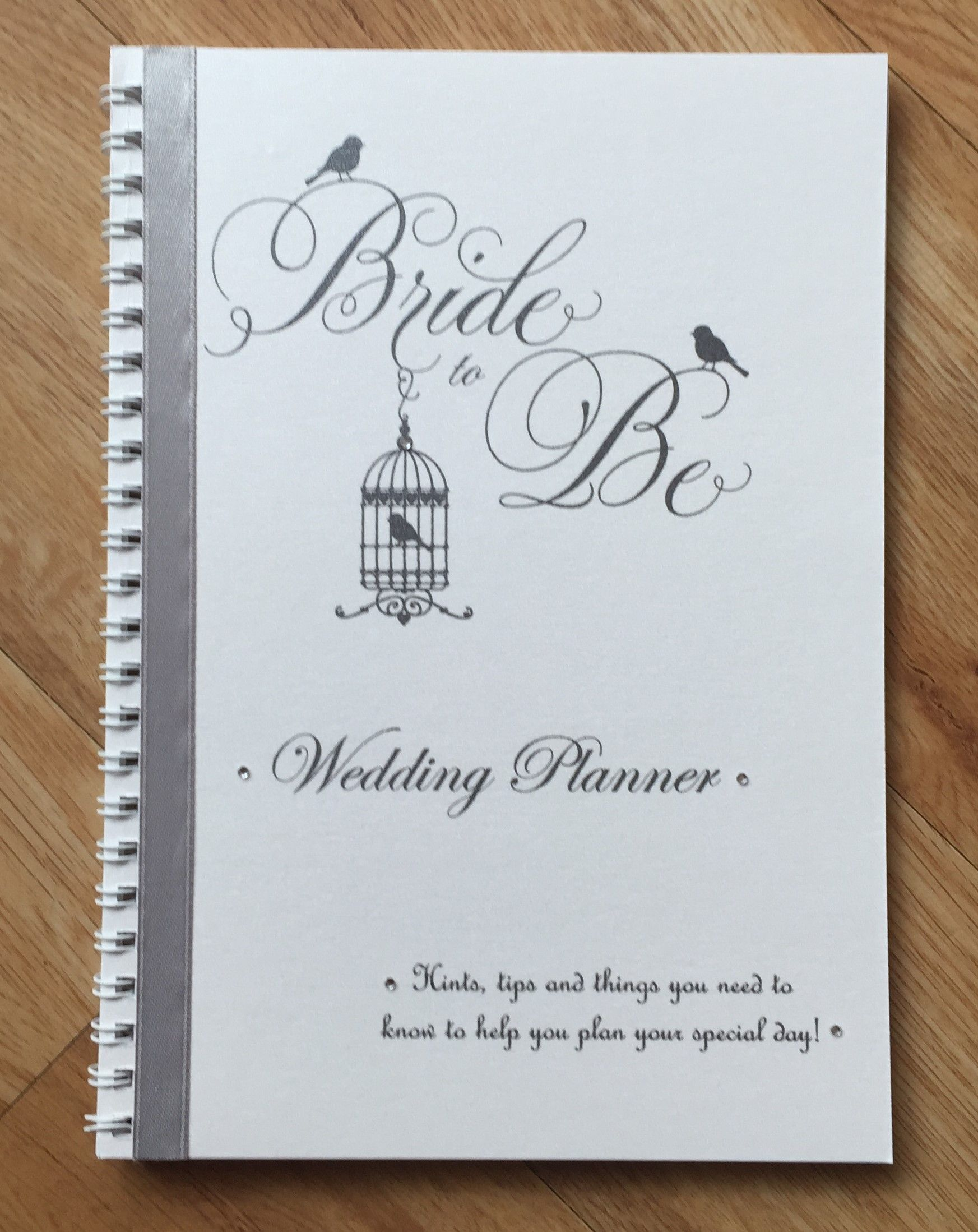 Handmade Personalised Brides Wedding Planner Bridal Journal Note Book Hints Tips And Things