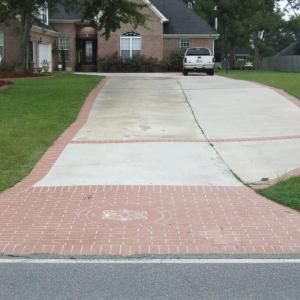 Painted Concrete To Look Like Brick Diy Driveway Paint
