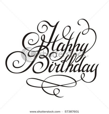 Happy Birthday Calligraphy Design Elements Artists For Kids Happy Birthday Calligraphy Lettering