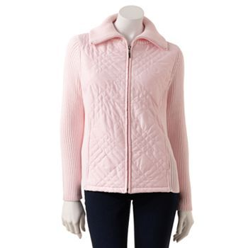 Croft and Barrow Quilted Sweater Jacket | Style for Her ... : croft and barrow quilted jacket - Adamdwight.com
