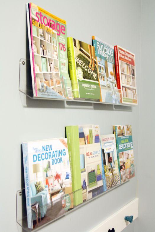Basement Progress: Studio Book Display