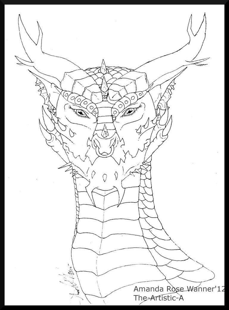 Realistic Dragon Coloring Pages - Bing images | Coloring-deviantArt ...