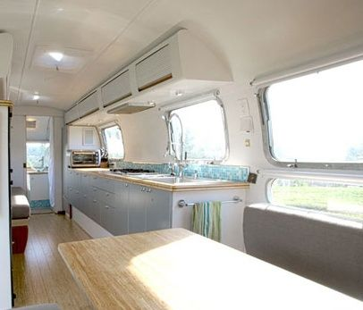 airstream interior -cabinet paint, faucet | vintage trailers/gypsy