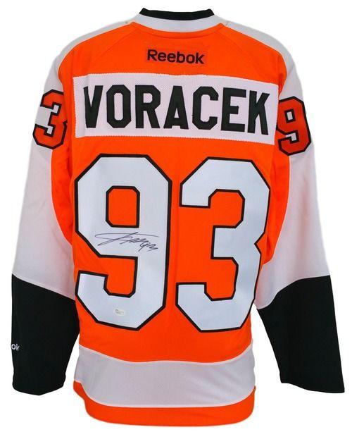 72d77071 Featured is a Jakub Voracek autographed Philadelphia Flyers Reebok premier  jersey. The jersey was hand signed by Jakub Voracek and authenticated by  JSA.