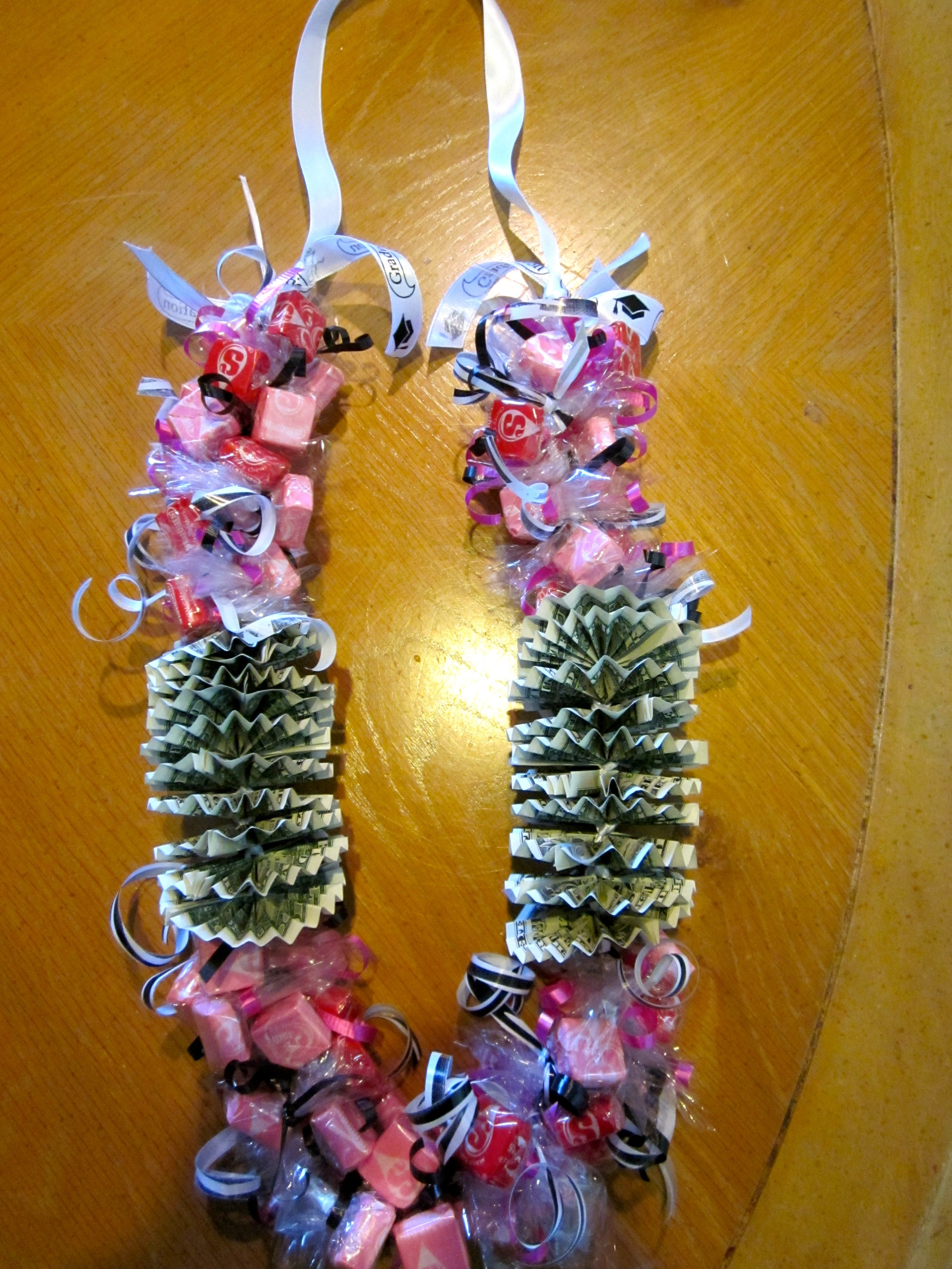 Lei Can Be Made With Construction Paper Yarn Solid: Graduation Money Candy Lei II