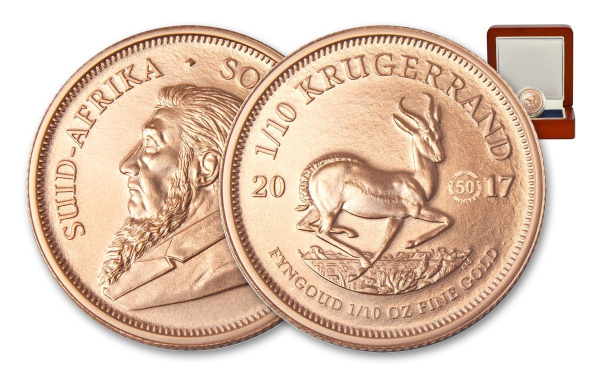 2017 1 10 Oz Gold Krugerrand 50th Anniversary Uncirculated Gold Krugerrand Gold 50th Anniversary