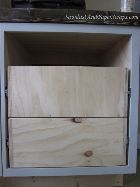 Installing Cabinet Drawers With Glides Diy Drawers Cabinet Drawers Diy Cabinets