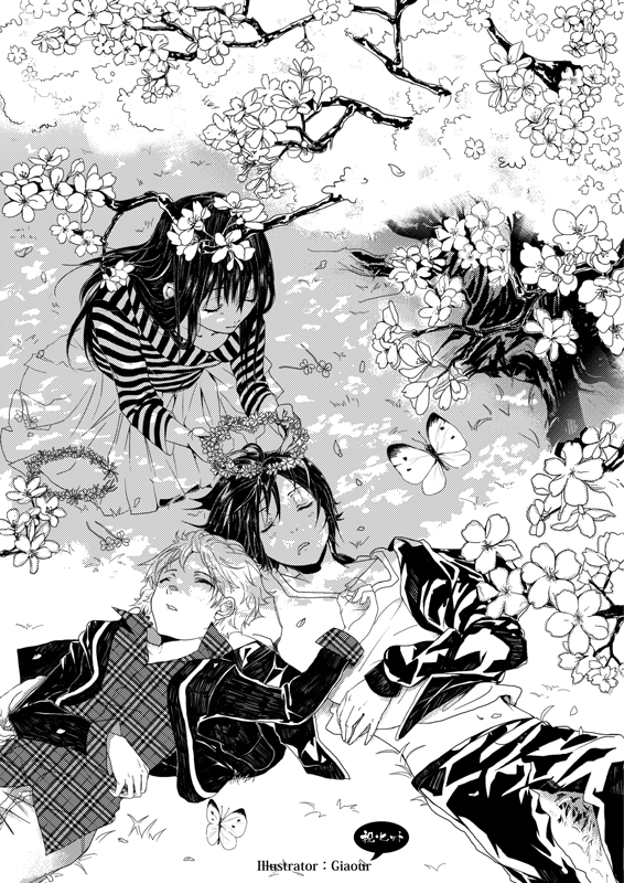 Noragami ~~ The goddess presents her favorite pair with crowns of flowers that she lovingly made for them. :: Yukine, Hiyori and Yato