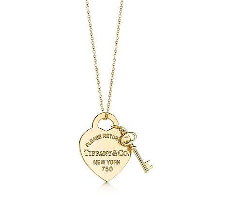 Tiffany Co Item Return To Medium Heart Tag With Key