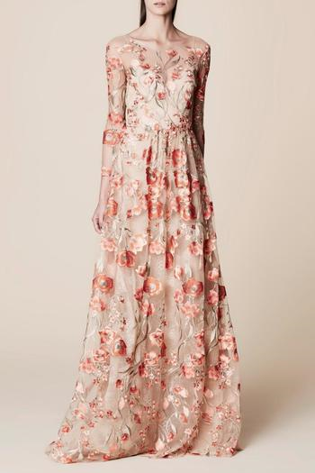 1,195$  Watch now - http://vikti.justgood.pw/vig/item.php?t=6v2cf238164 - Floral Embroidered Gown 1,195$