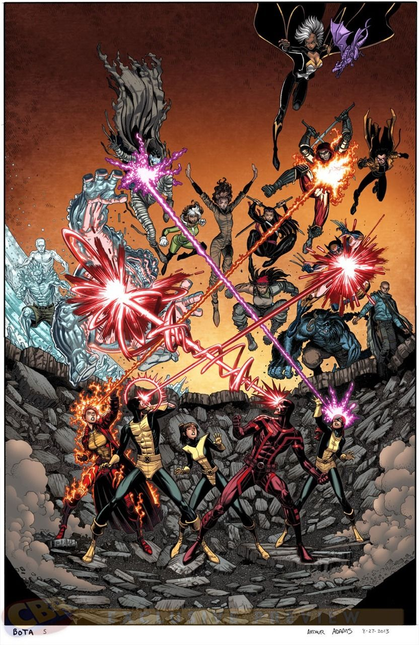 Astonishingx Battle Of The Atom By Arthur Adams Marvel Comics Vintage Marvel Comics Artwork Marvel Comics Funny