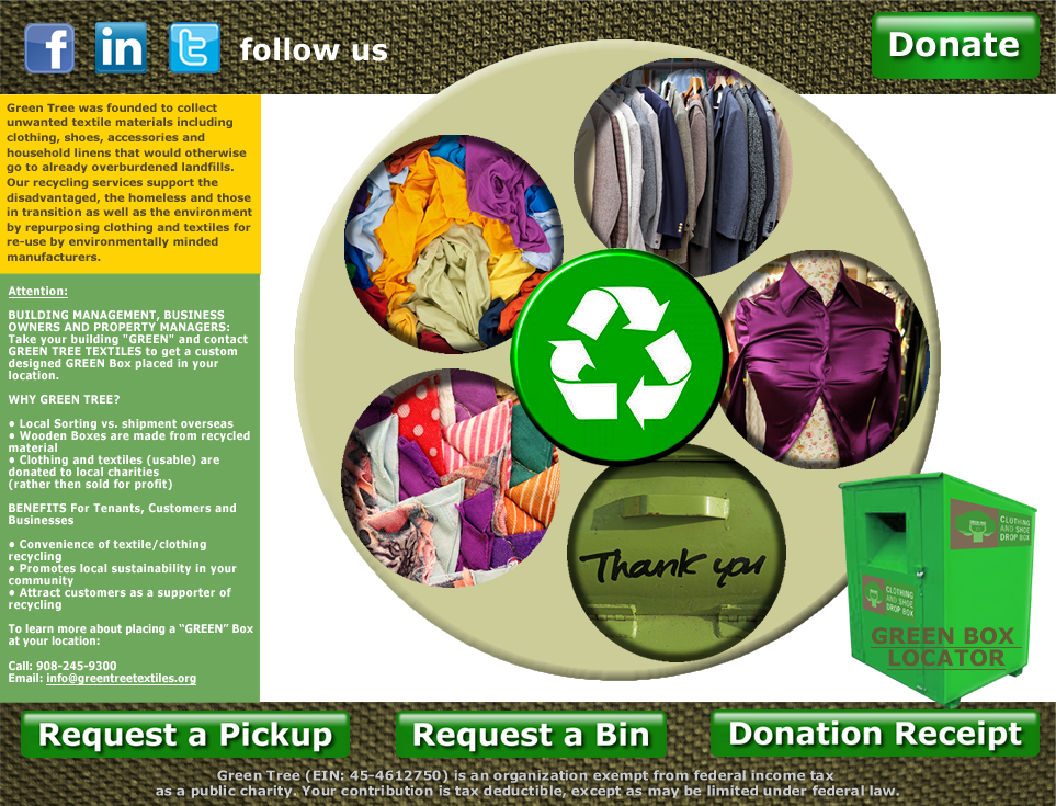 Green Tree Textile Recycling NYC | Sustainable Articles | Textile