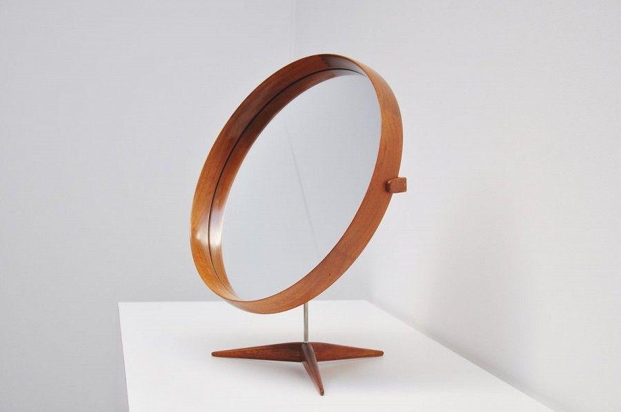 Uno And Osten Kristiansson Luxus Table Mirror Sweden 1960 | Mass Modern Design