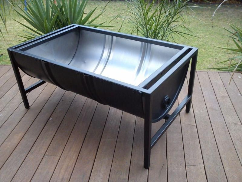 Metal Barrel Fire Pit More - Metal Barrel Fire Pit … Fire Pits Pinte…