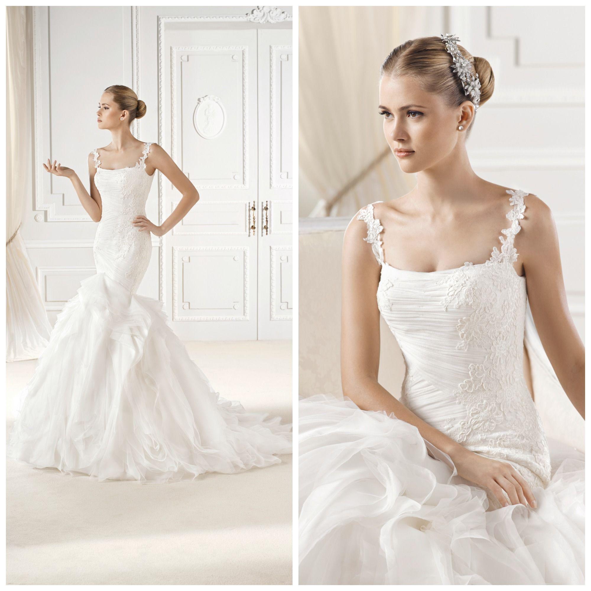 Girls wedding dress   La Sposa uElianau A stunning fishtail with straps  La Sposa