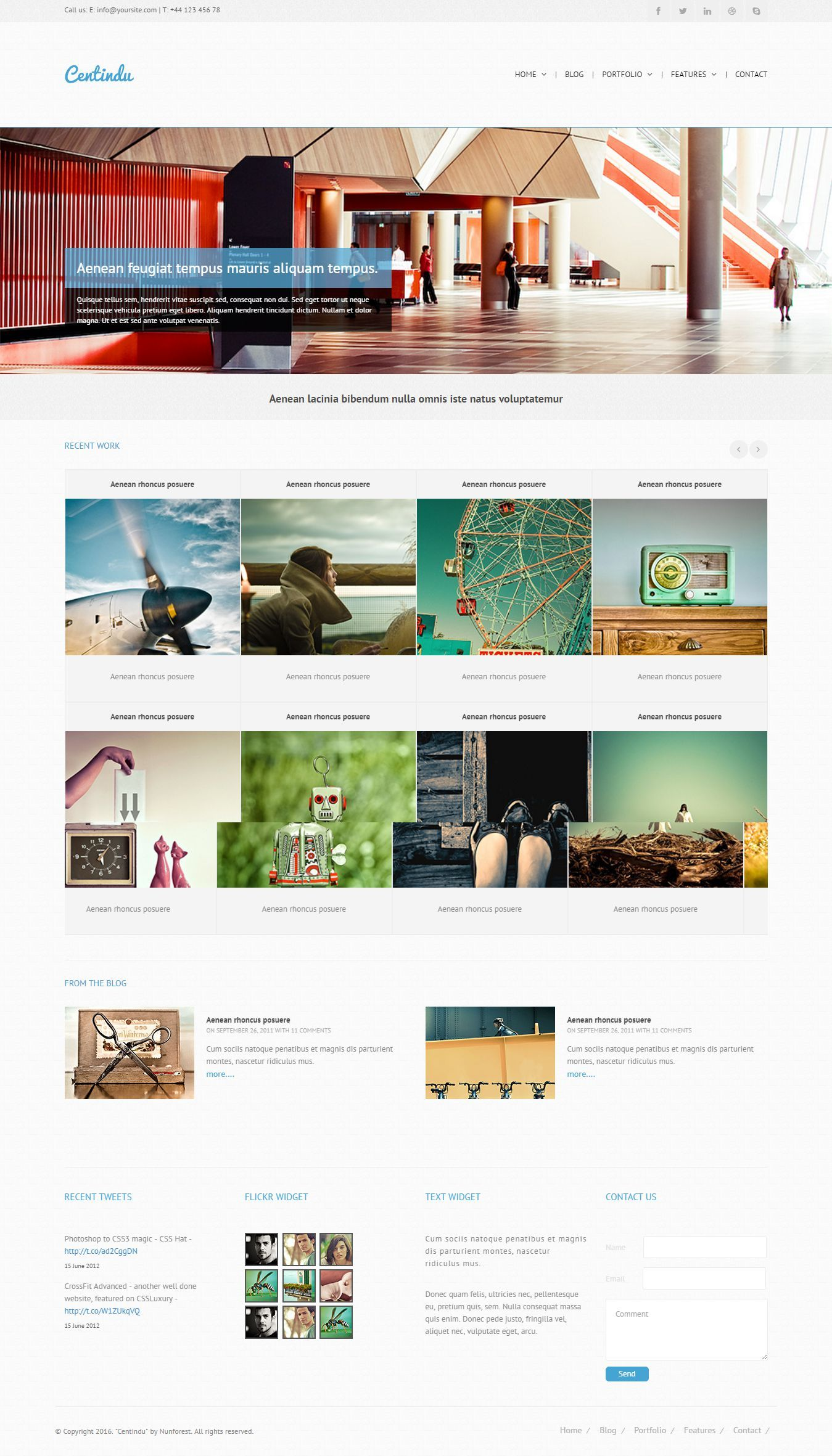 Centindu – is clean Multipurpose HTML Template It is great