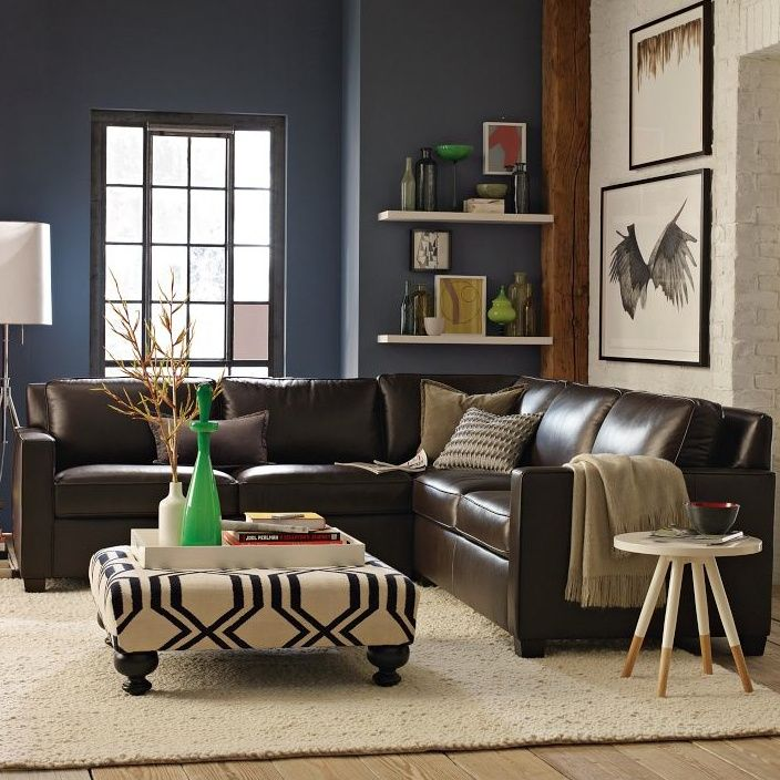 Blue Walls Brown Leather Couch Google Search Living Room Colors Brown Sofa Living Room Brown Leather Couch Living Room