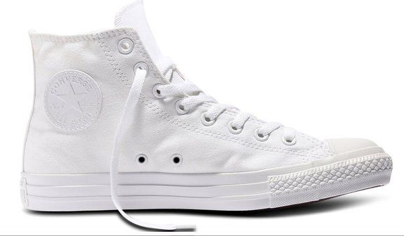 converse all star hi canvas sneaker unisex adulto bianco
