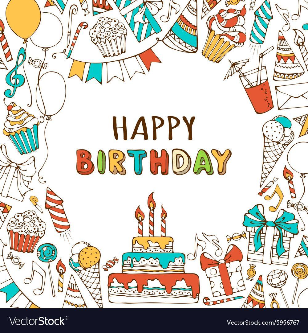 Happy Birthday Background Vector Image On