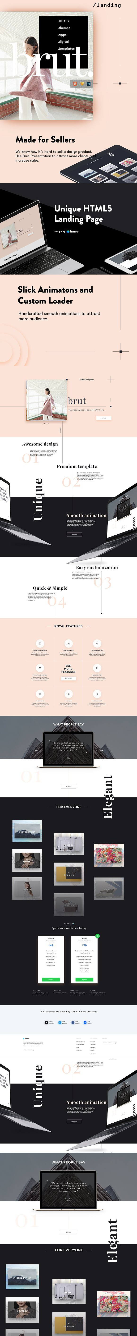 Brut Landing Page . HTML/CSS Themes | HTML/CSS Themes | Pinterest ...