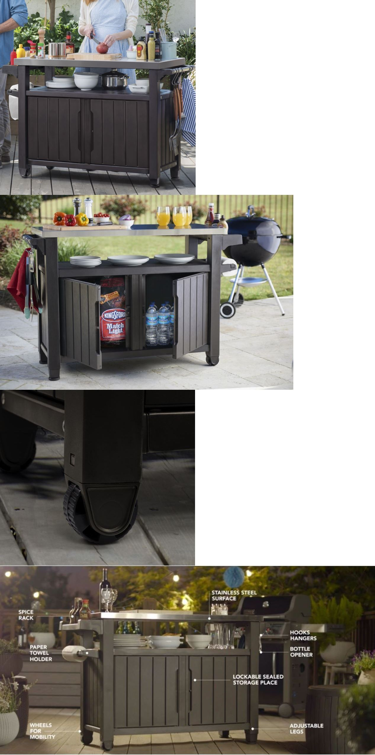 Other outdoor cooking and eating outdoor kitchen island