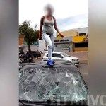 Embarazada y rabiosa: el le fue infiel ella le destrozó el auto