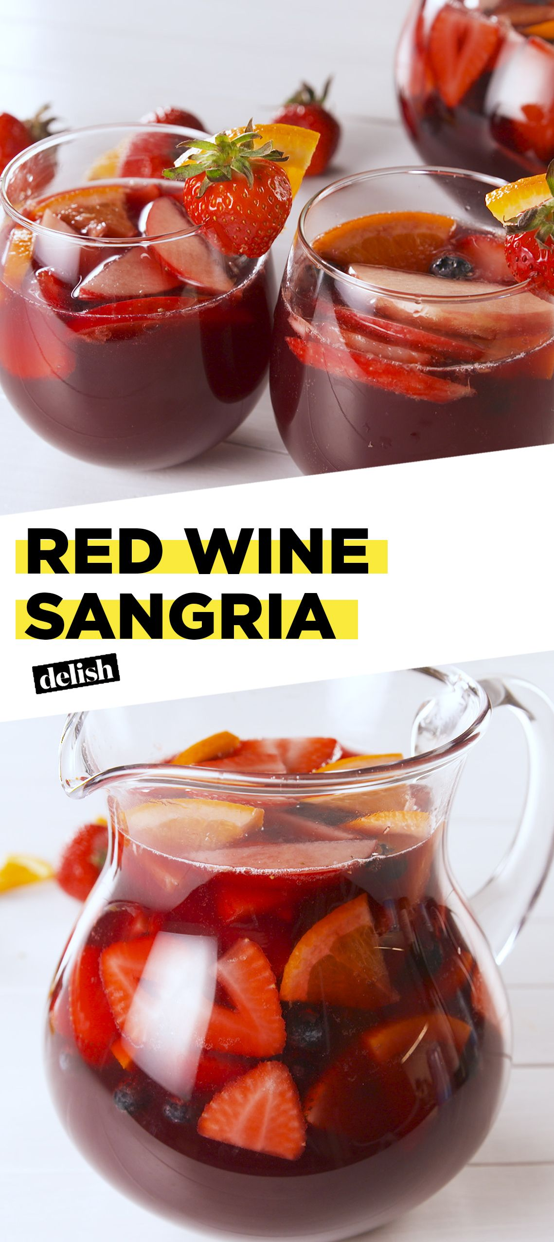 Red Sangria Is Perfect For Sipping Poolside Recipe Red Wine Sangria Red Sangria Recipes Food