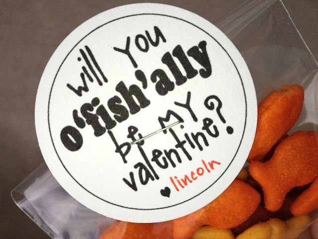Cute Valentine idea -- also cute using Swedish fish.