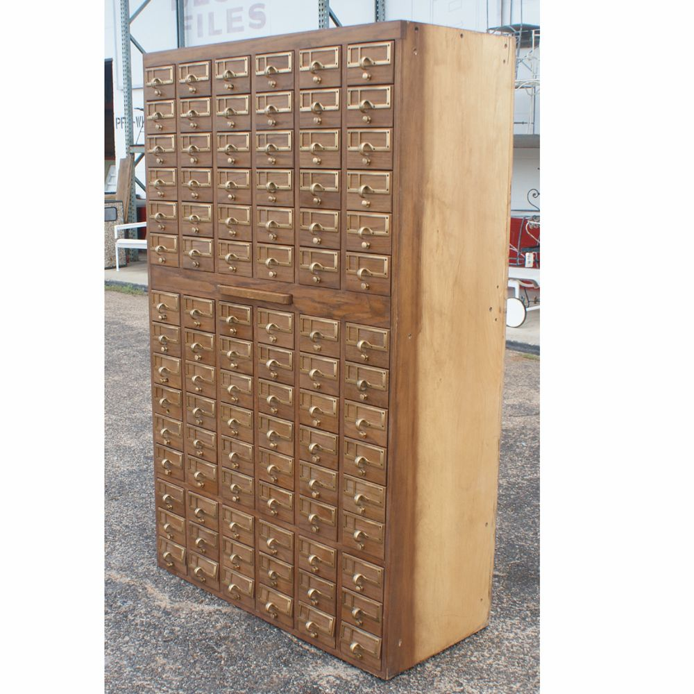 Cabinet Card 90 Drawer File Wood 3 Cabinets Available Price Per Item