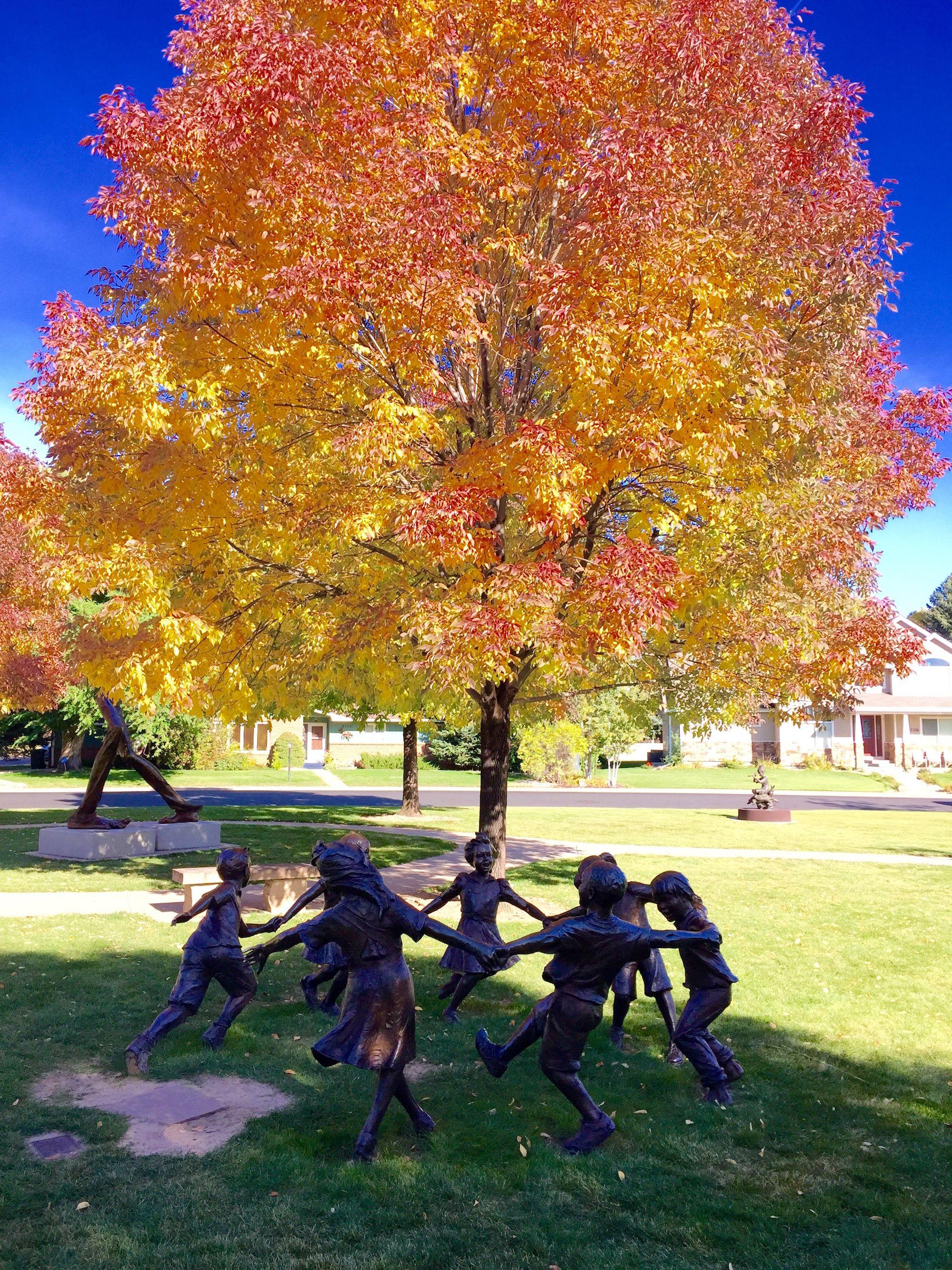 Fall colors at Benson Sculpture Garden Loveland, Fall