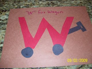 Ramblings Of A Crazy Woman W For Wagon Letter A Crafts Preschool Letter Crafts Letter W Crafts
