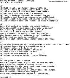 Kris Kristofferson Song Sunday Mornin Comin Down 2 Lyrics And