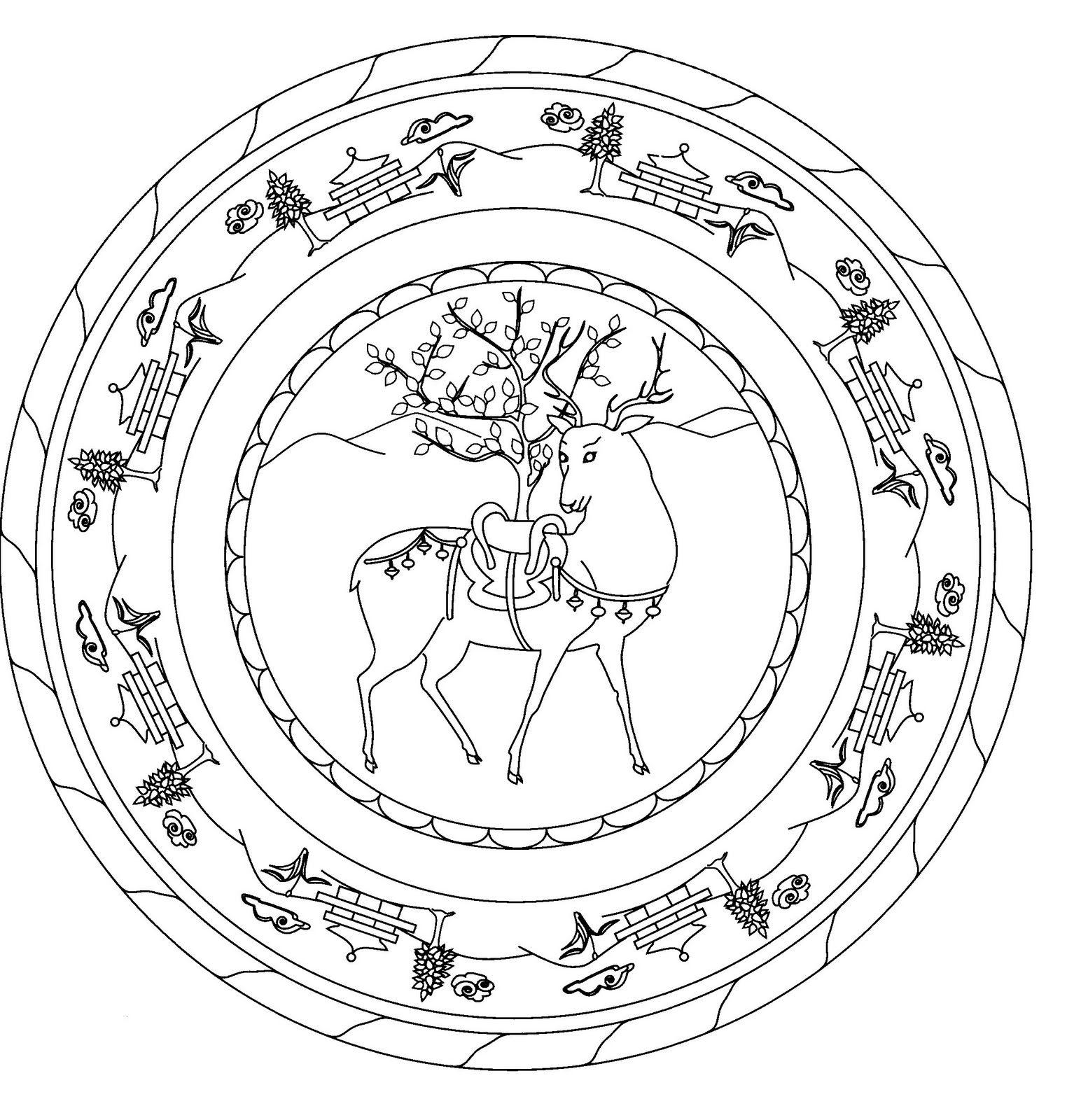 Vistoso Círculo De Gracia Para Colorear Ornamento - Dibujos Para ...