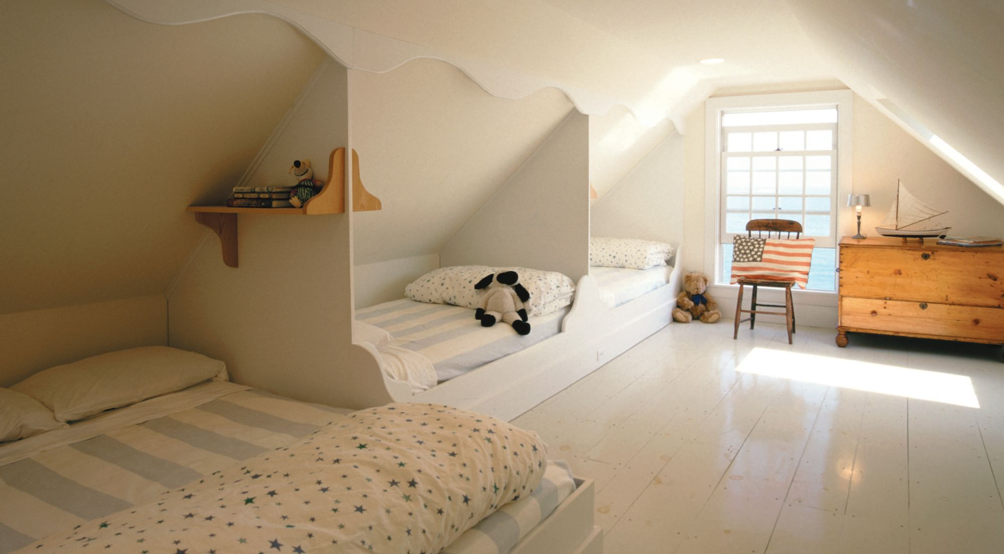 built in attic beds · DachgeschosseDachboden SpeicherKinderzimmerInnenausstattungSchlafzimmerFerienwohnungDiy