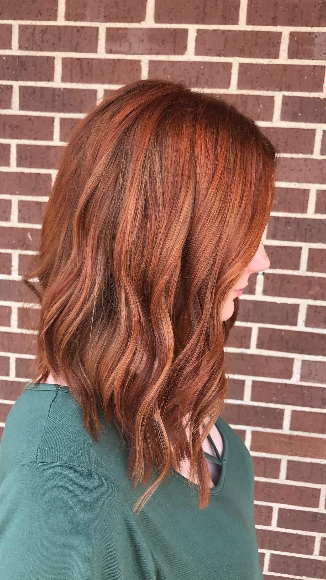 Cooper red hair Long bob cut Hair Pinterest