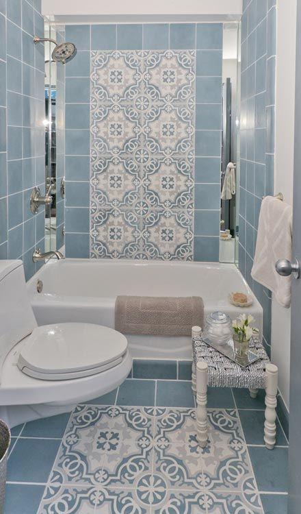 Sabine Hill Sevilla Blue Bathroom Tile Tile Bathroom Retro Bathrooms