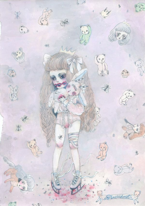 the creepy cute drawings of risa mehmet risa mehmet pinterest japanese artists creepy and artist