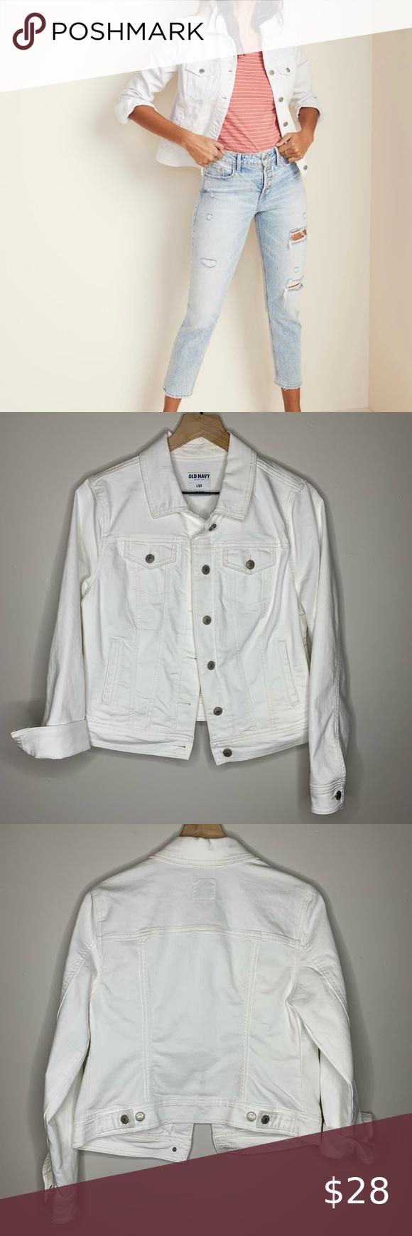 Old Navy White Jean Jacket White Jean Jacket Navy And White Jean Jacket [ 1740 x 580 Pixel ]