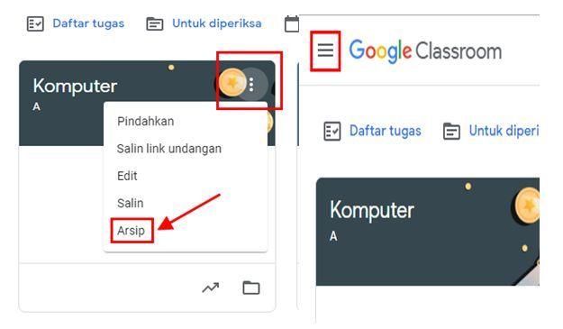 cara hapus kelas di google clasroom